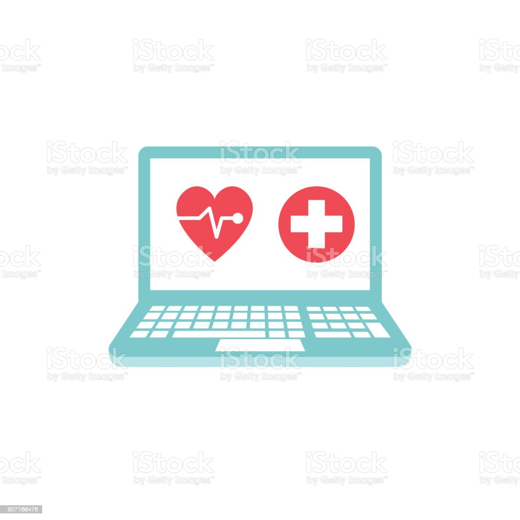 Medical And Healthcare Icon In Flat Design Style On Circle Backgrounds vector art illustration