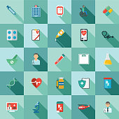 istock Medical And Healthcare Icon In Flat Design Style - Set 1152017177