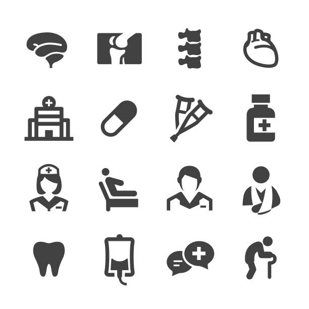 Medical and Healthcare Icons - Acme Series Medical, Healthcare, medical x ray stock illustrations