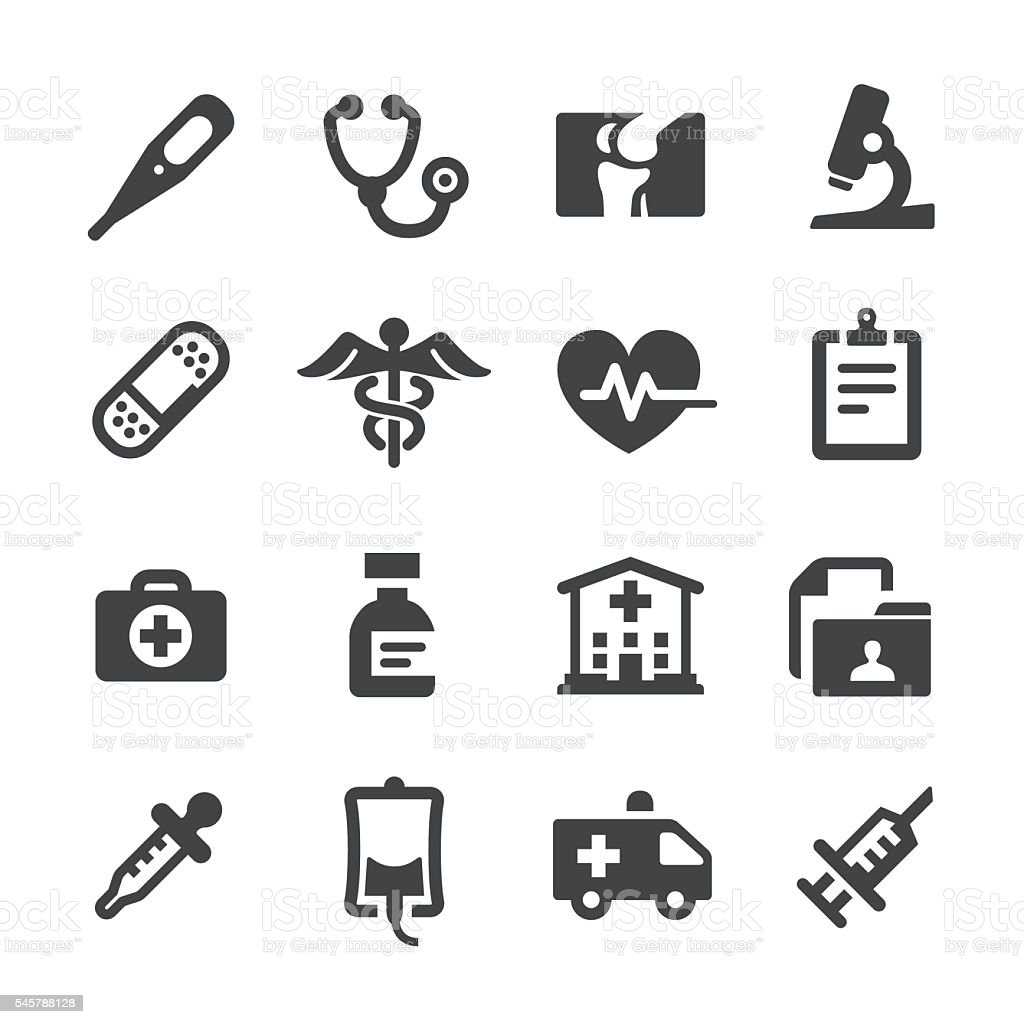 medical and healthcare icons acme series stock vector art