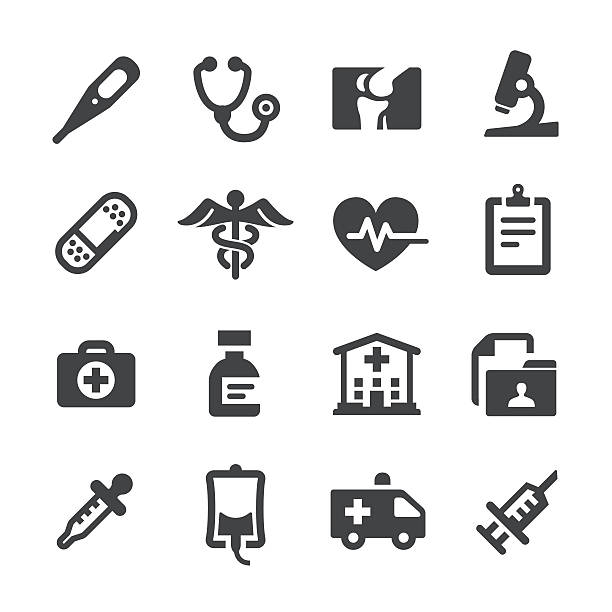 medical and healthcare icons - acme series - medizinische geräte stock-grafiken, -clipart, -cartoons und -symbole