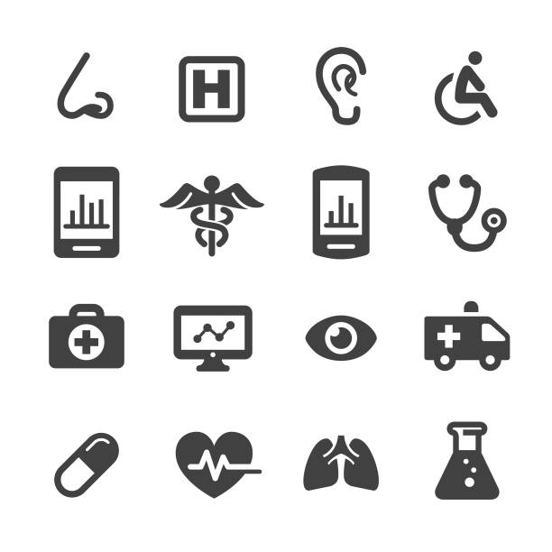 medical and healthcare icons - acme series - health stock illustrations