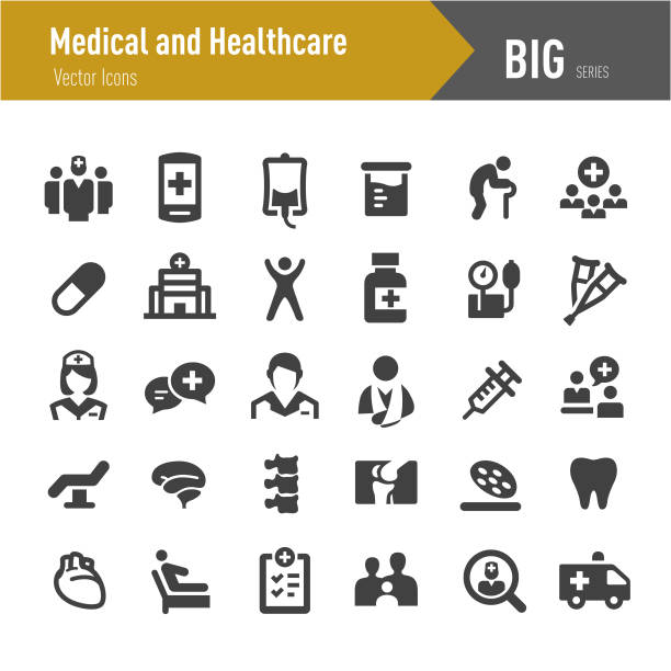 bildbanksillustrationer, clip art samt tecknat material och ikoner med hälso- och ikoner - stora serien - allmänläkare