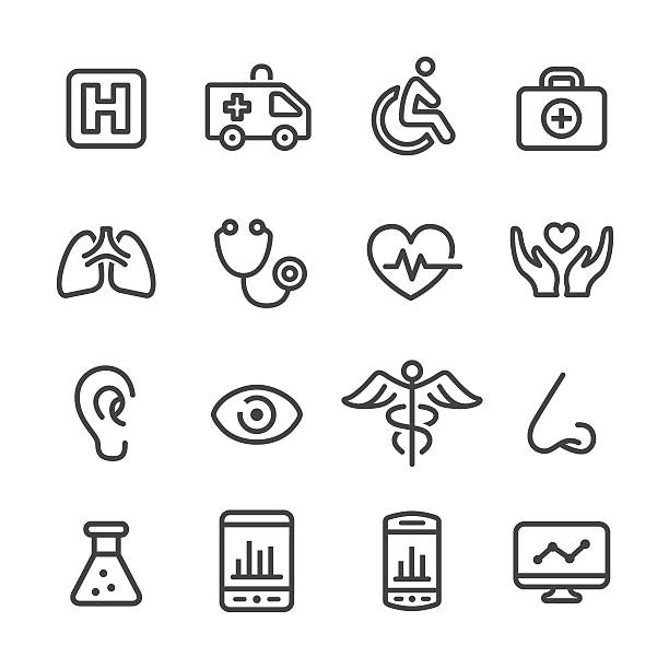 Medical and Healthcare Icons - Line Series vector art illustration