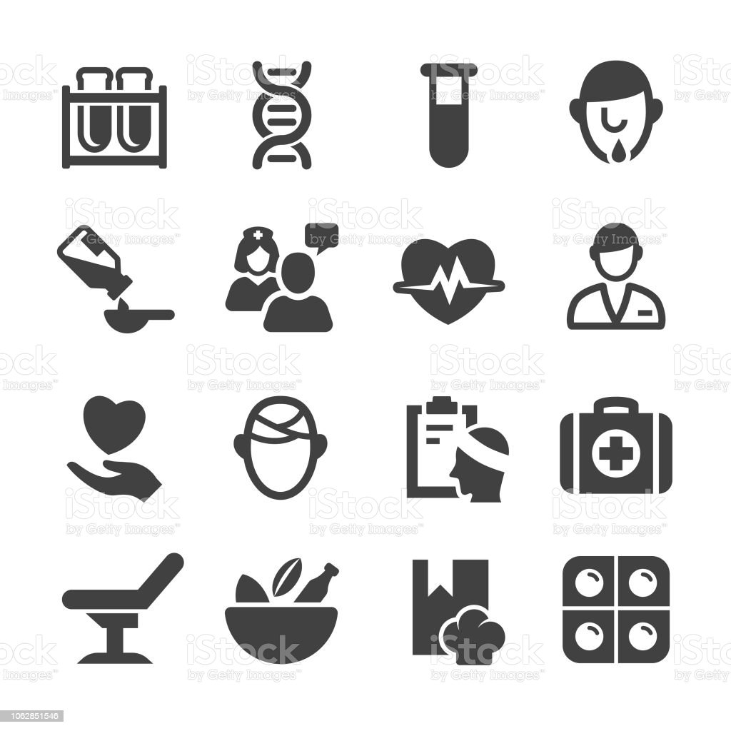 Medical and Healthcare Icons Set - Acme Series vector art illustration