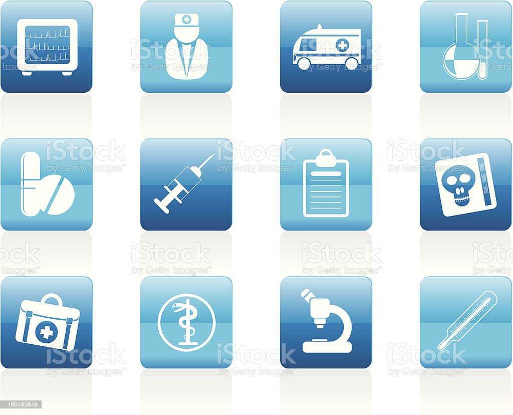 Medical and healthcare Icons royalty-free stock vector art