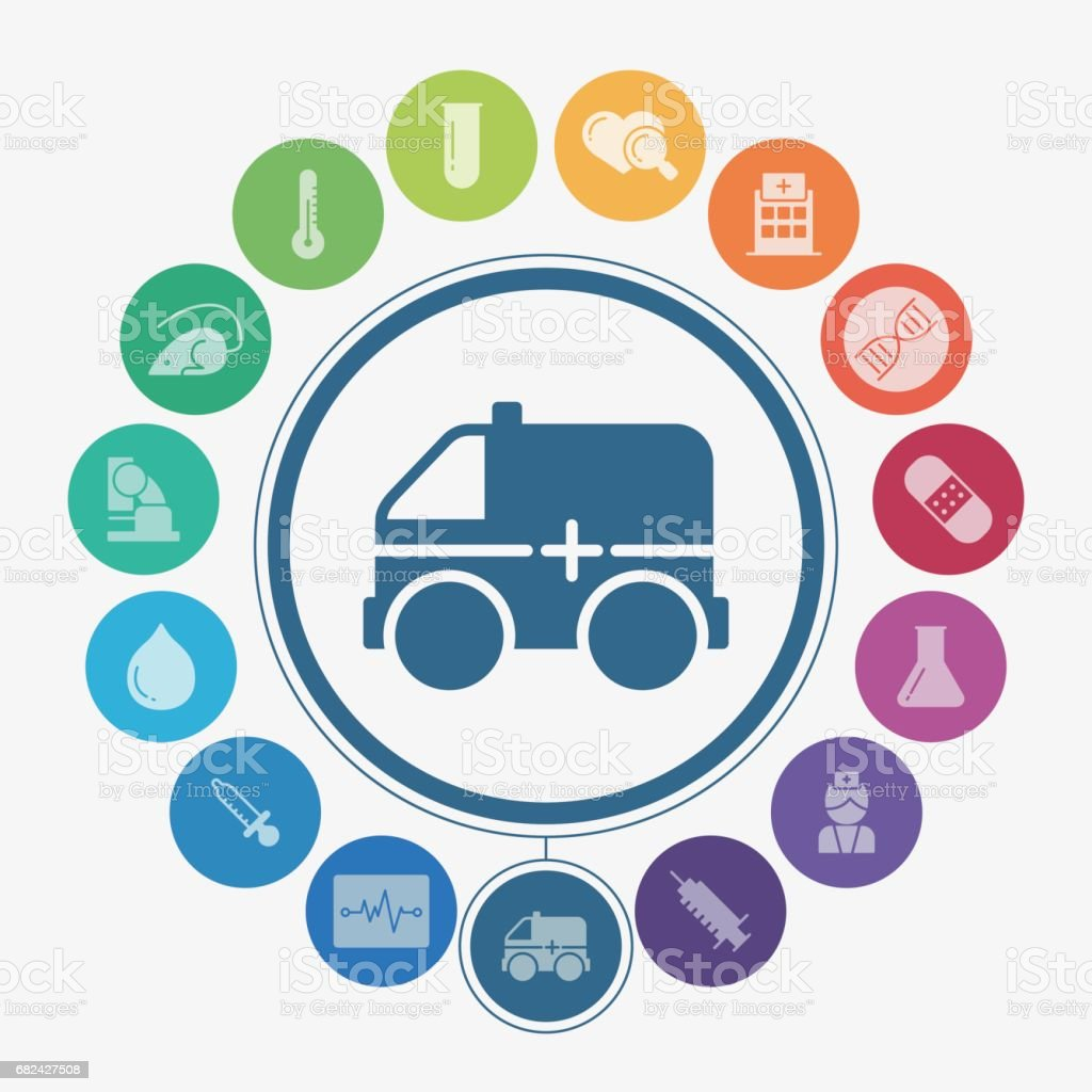 Medical and healthcare icons royalty-free medical and healthcare icons stock vector art & more images of ambulance