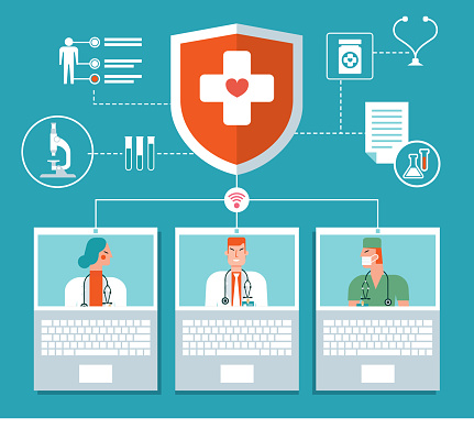 Medical And Healthcare Infographic - Laptop