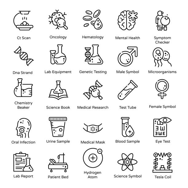 Medical and Healthcare line Icons Pack Are you looking for designing themes related to medical and healthcare? Wait no more, you are on the same page. Here is a set akin to this department having editable quality as well.Hold it and use accordingly! science icons stock illustrations
