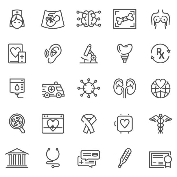 醫療保健線圖示 - hearing aid 幅插畫檔、美工圖案、卡通及圖標