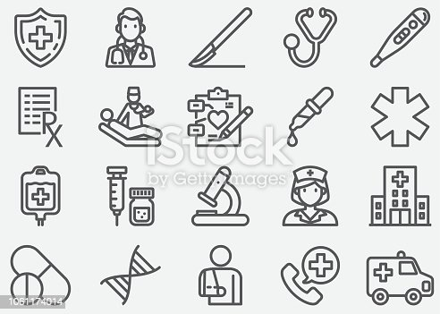 Medical and Healthcare Line Icons