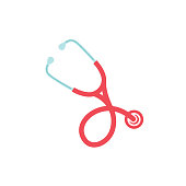 istock Medical And Healthcare Stethoscope Icon In Flat Design Style 927168552