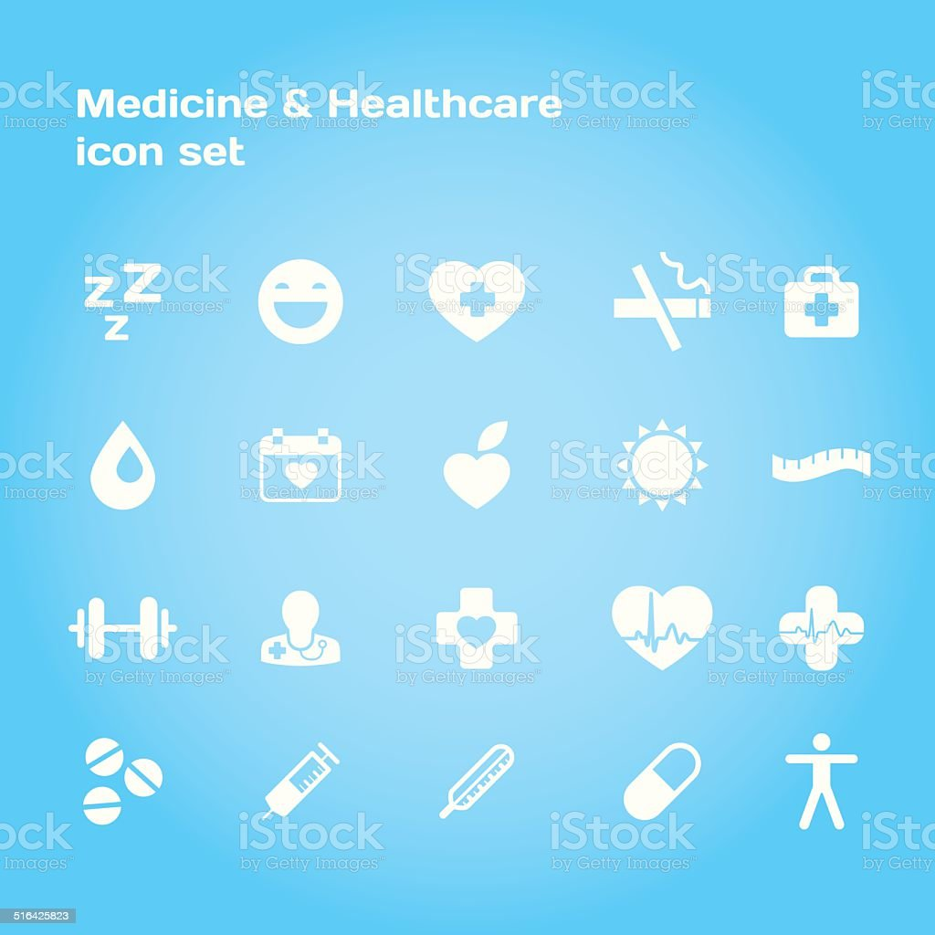 Medical and healthcare stylish icon set. vector art illustration
