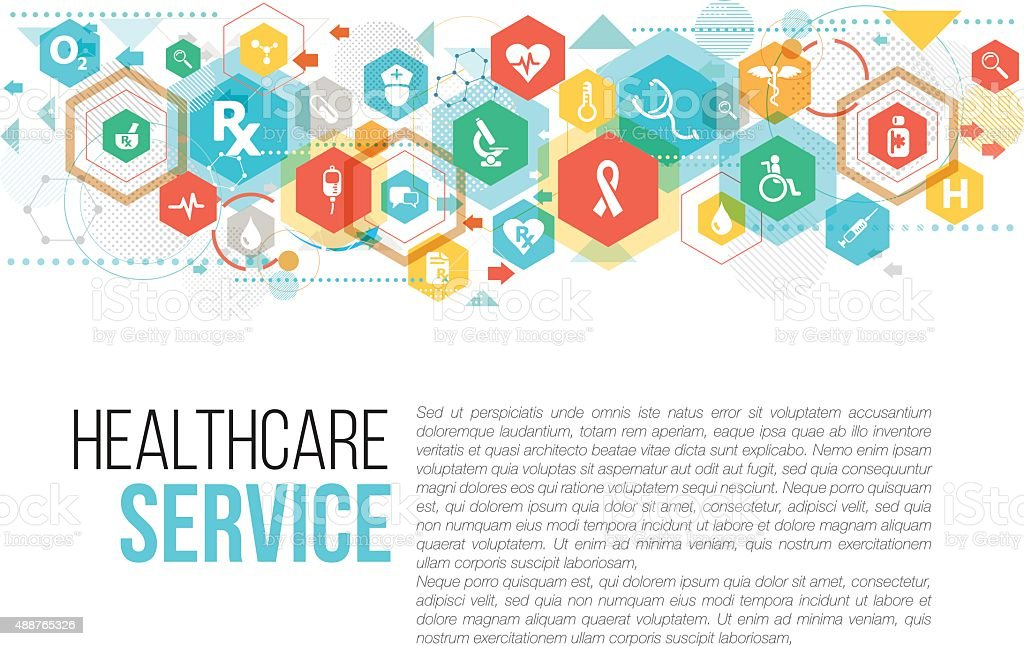 Medical and Healthcare vector art illustration