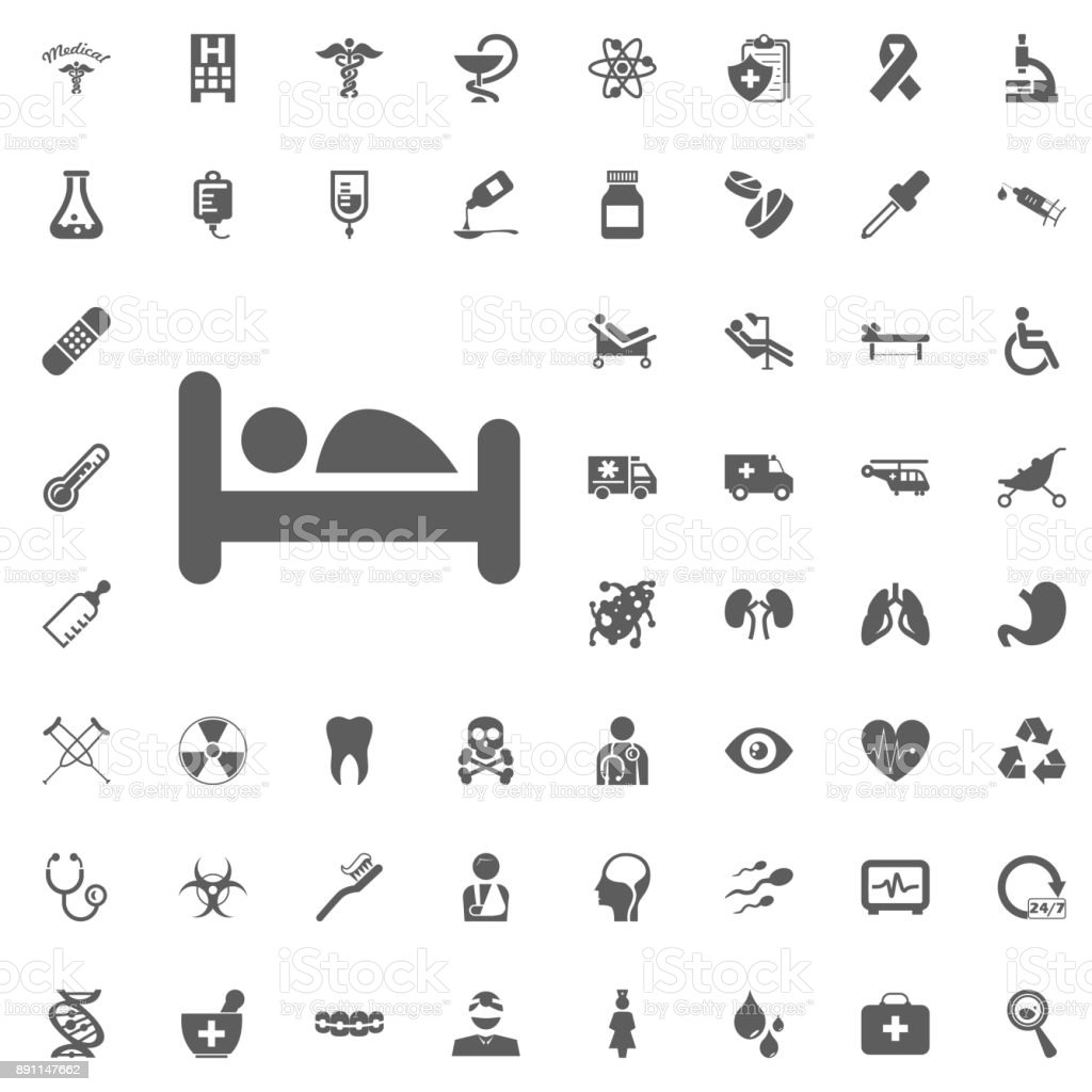 Medical and Hospital Icon vector Set vector art illustration
