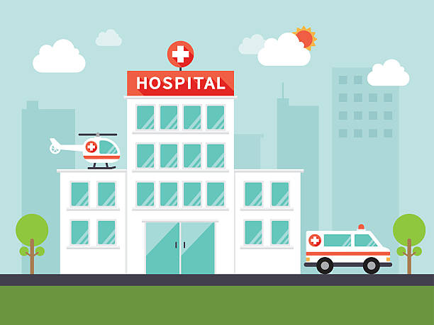illustrations, cliparts, dessins animés et icônes de medical and hospital icons - hôpital