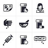 Medical and Pharmacy Icons and Symbols