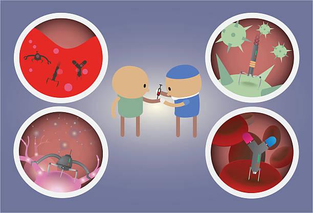 Medical Applications of Nano Technology vector art illustration