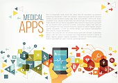 Medical apps and tech copy space