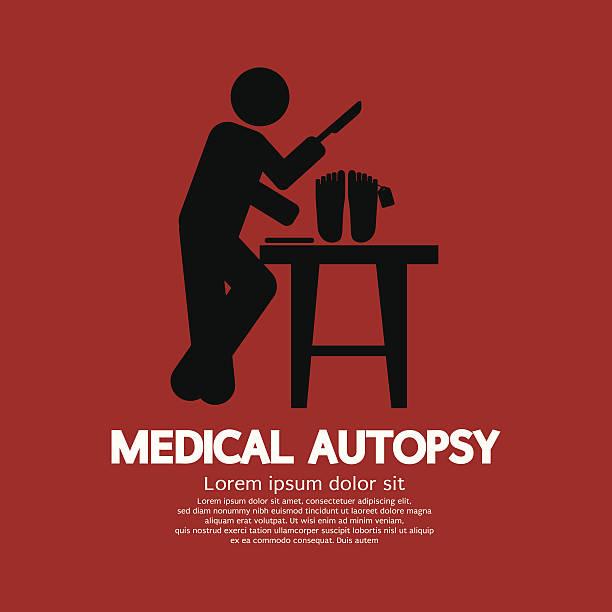 medical autopsy graphic vector illustration - autopsy stock illustrations, clip art, cartoons, & icons