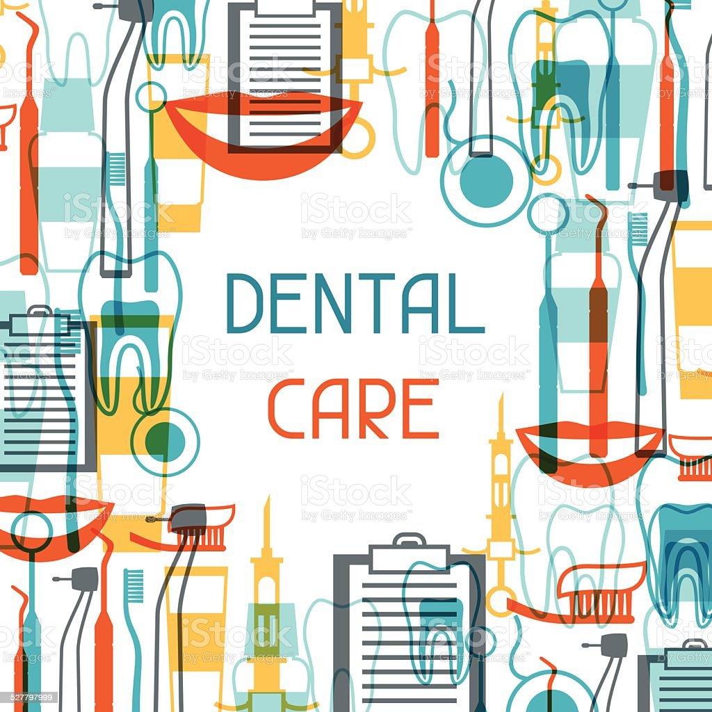 Medical background design with dental equipment icons. vector art illustration