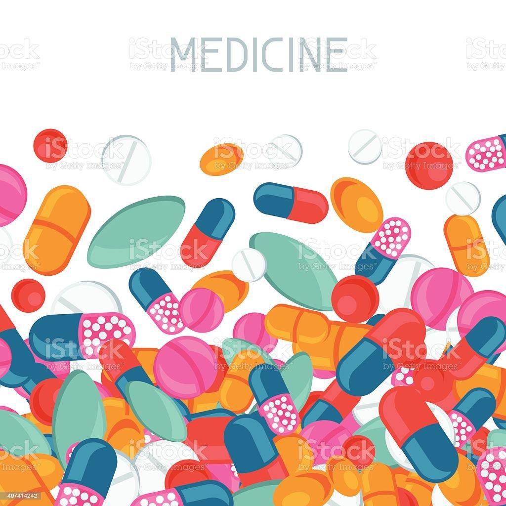 医学的背景デザイン薬やカプセル のイラスト素材 467414242 | istock
