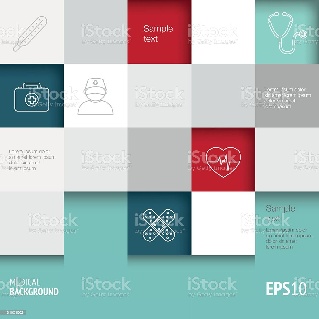 Medical Background - Infographics vector art illustration