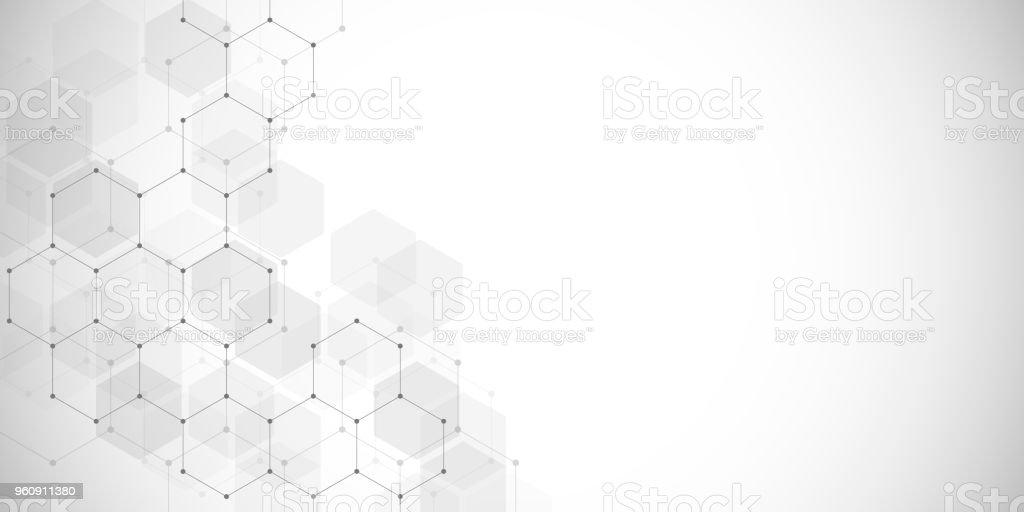 Medical background or science vector design. Molecular structure and chemical compounds. Geometric and polygonal abstract background vector art illustration