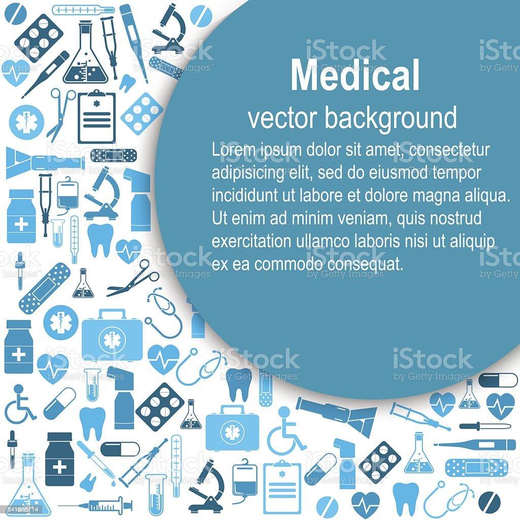 Medical background. Vector Illustration vector art illustration