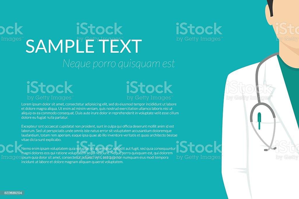 Fondo con clínica médico usa uniforme plana - ilustración de arte vectorial