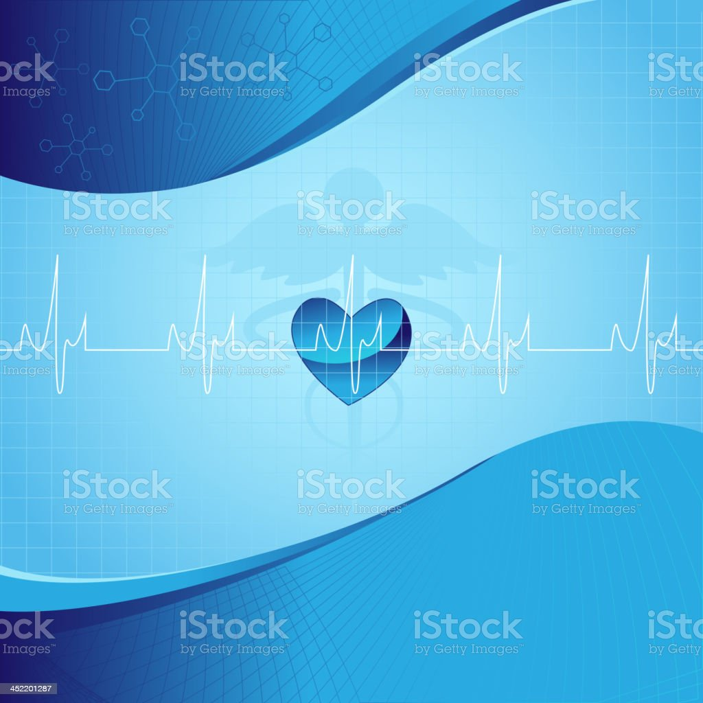 Medical Background with Life line royalty-free stock vector art