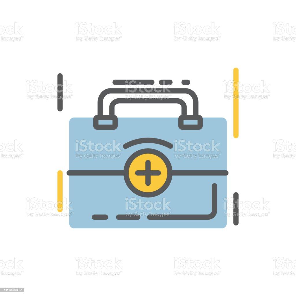 Medizintasche Symbol Flach Und Linie Moderner Stil Stock Vektor Art ...