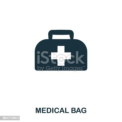 Medical Bag icon. Line style icon design. UI. Illustration of medical bag icon. Pictogram isolated on white. Ready to use in web design, apps, software, print