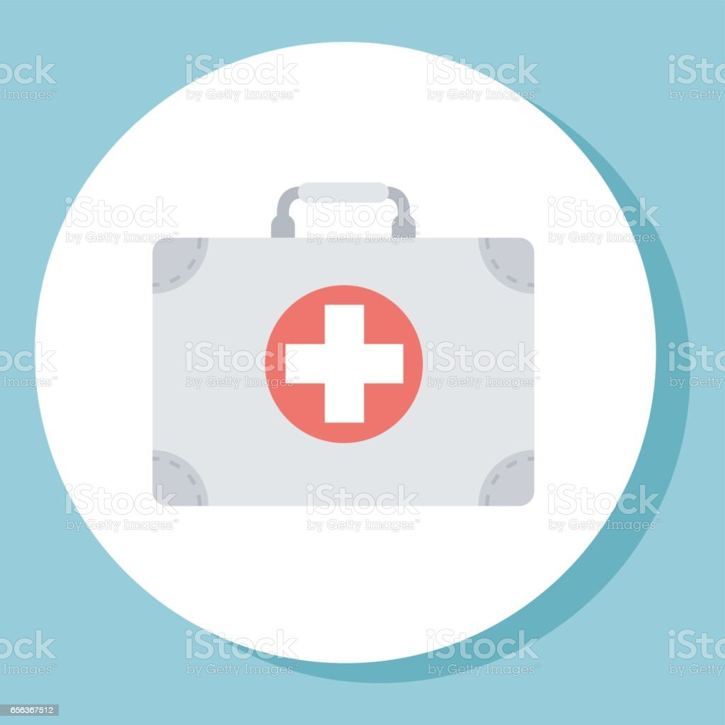 Medical bag icon. Vector illustration in a flat style. vector art illustration
