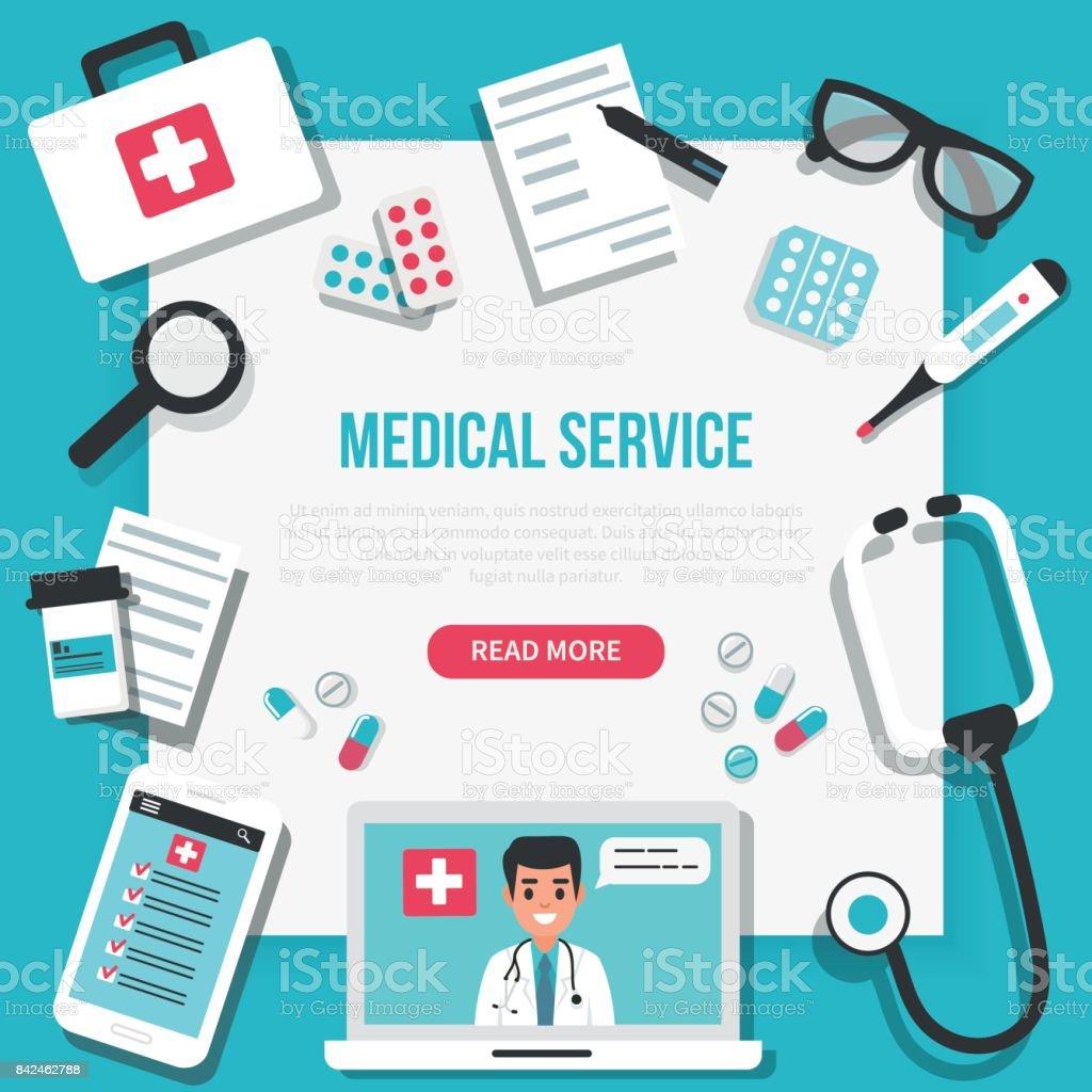 Medical banner vector art illustration