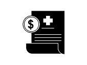 istock Medical bill icon 1343149290