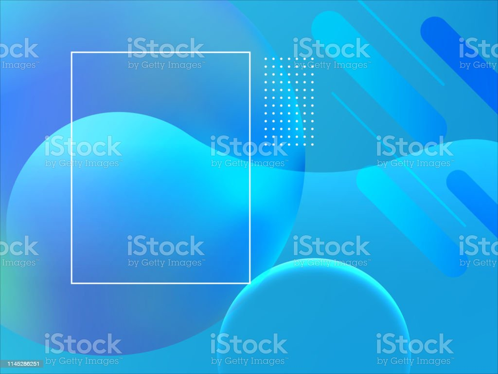 Medical blue geometric abstract background. Abstract blue vector...