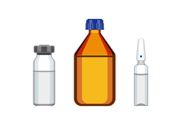 의료병 및 앰플 - 앰풀 stock illustrations