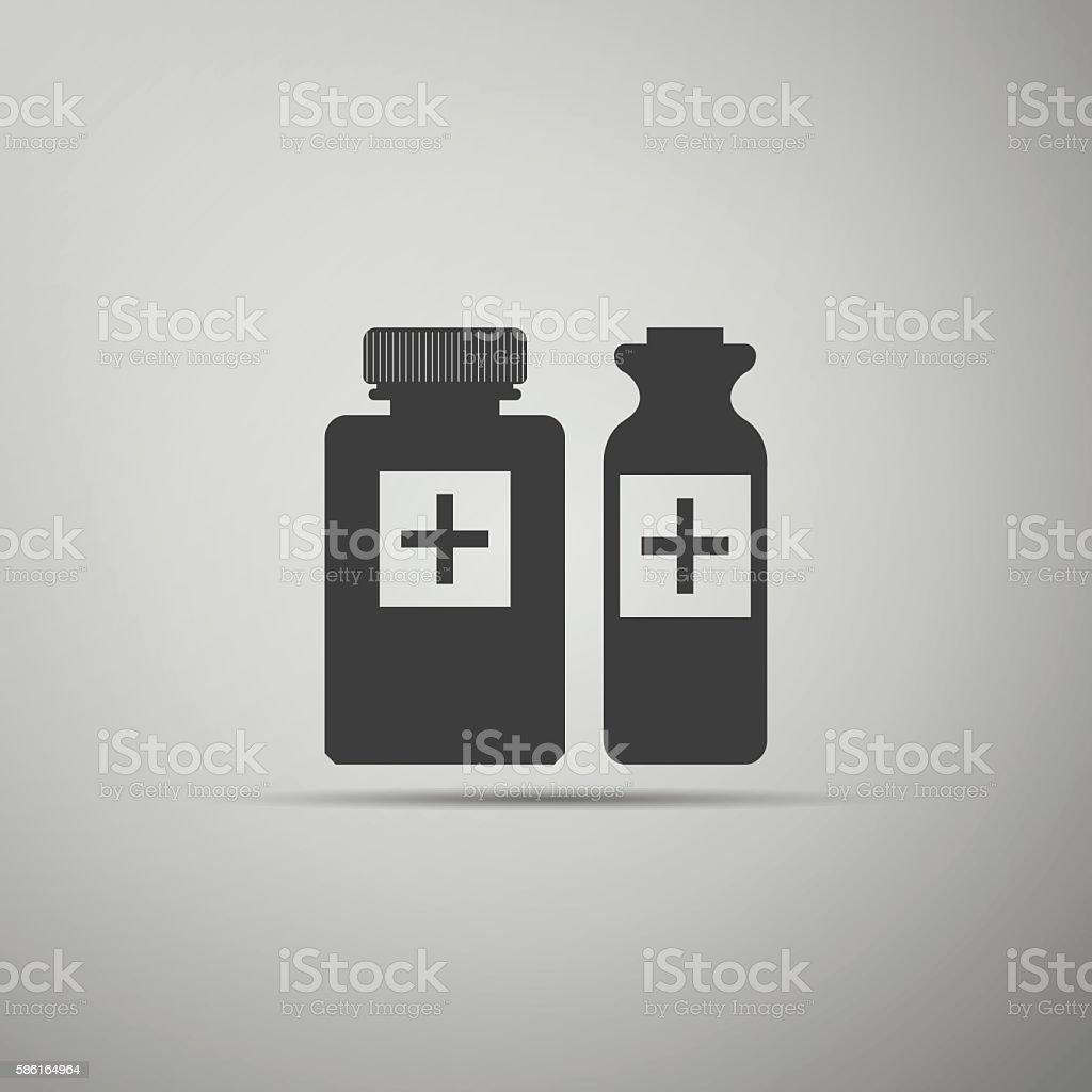 Medical bottles icon. vector art illustration