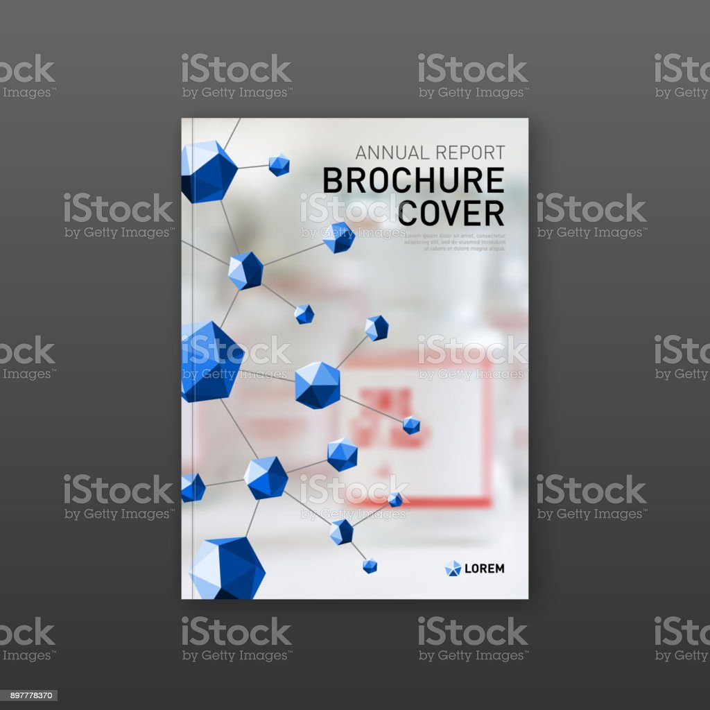 Medical Brochure Cover Template Or Flyer Layout Stock Vector Art ...