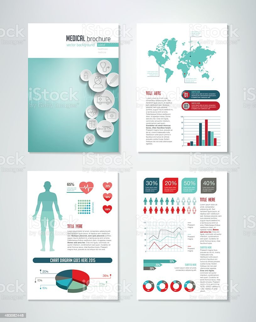 Medical Brochure Infographics Stock Vector Art More Images Of - Free medical brochure templates