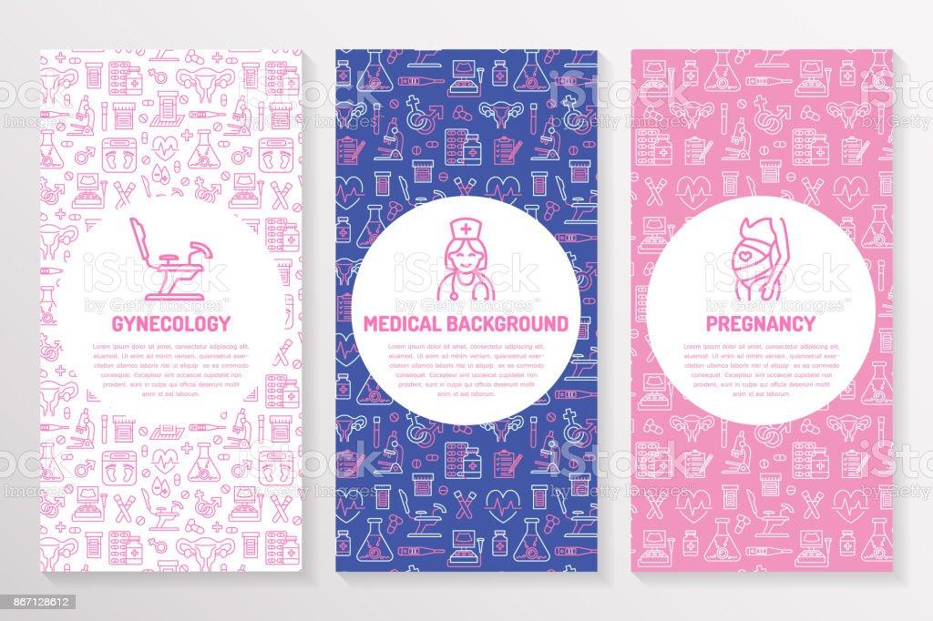 Medical brochure template gynecology flyer vector trifold pink medical brochure template gynecology flyer vector trifold pink purple background obstetrics pregnancy stopboris Images