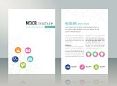 Brochure template - medical topics, healthcare, science, technology. This file is saved in EPS10 format.