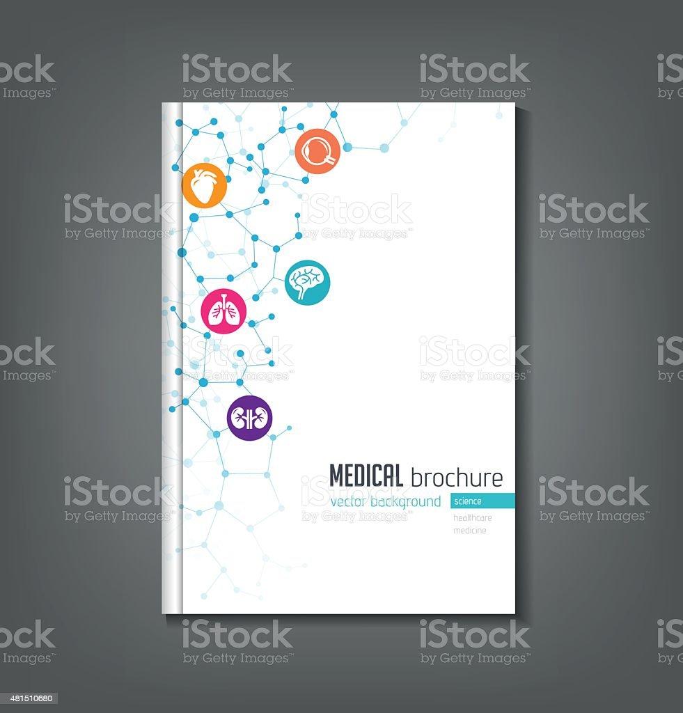 Medical Brochure Template vector art illustration