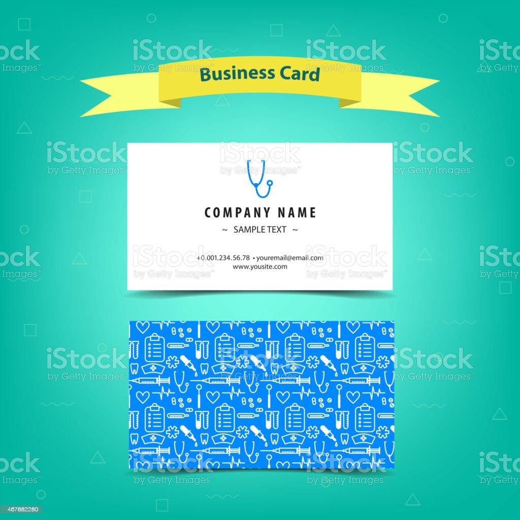 Medical Business Card vector art illustration