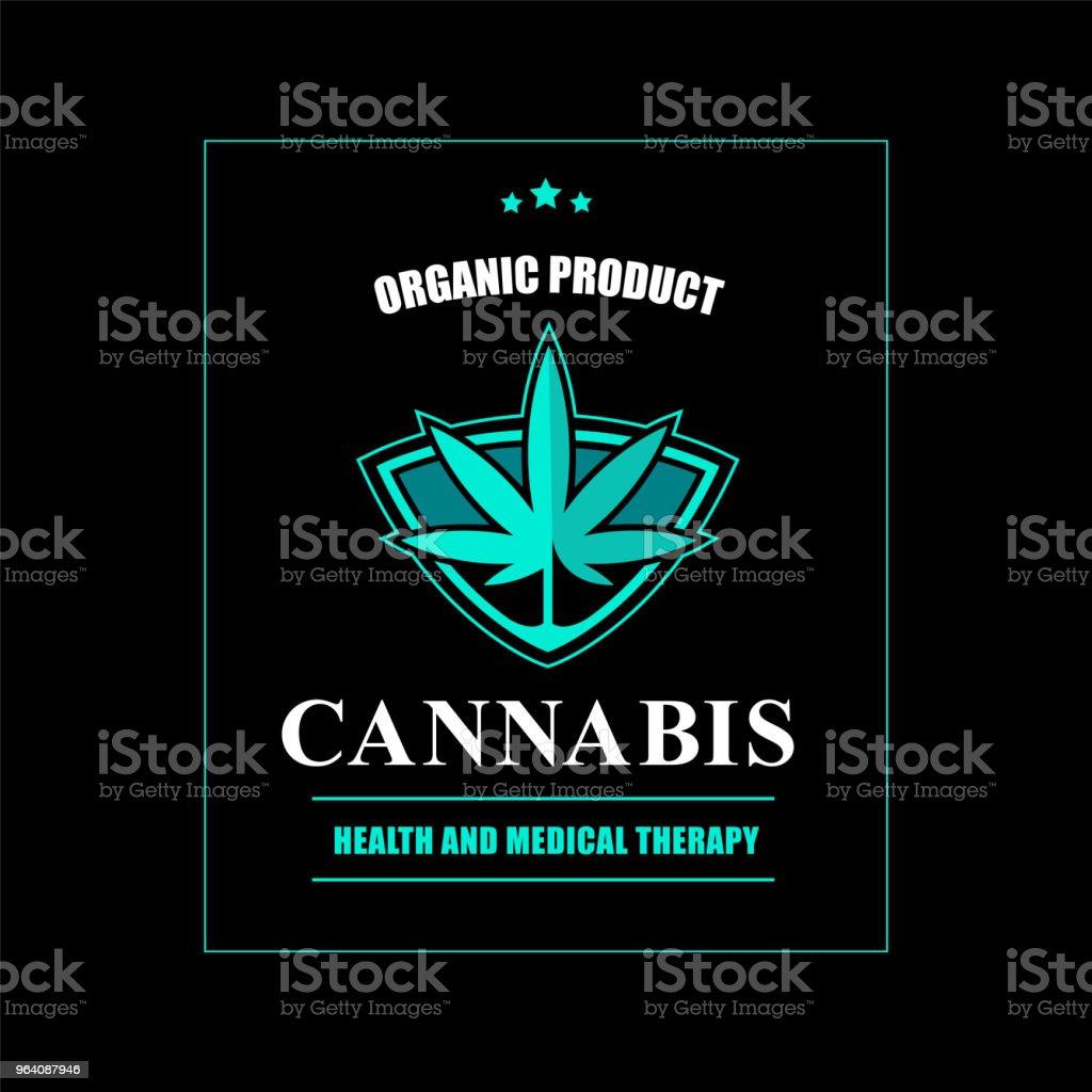 Medical cannabis label. - Royalty-free Alternative Medicine stock vector
