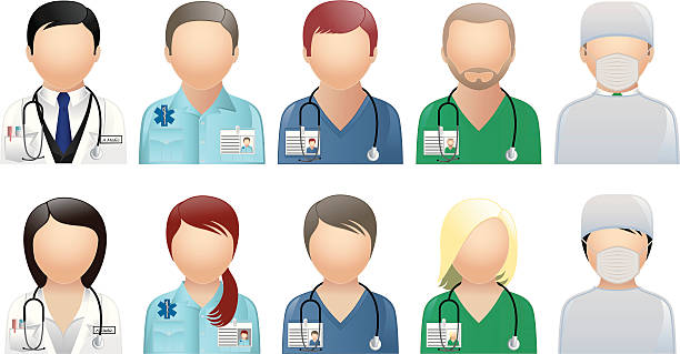 Medical & Care People - Avatars & User Icons  male nurse stock illustrations