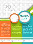 Medical care, template, banner or flyer design.