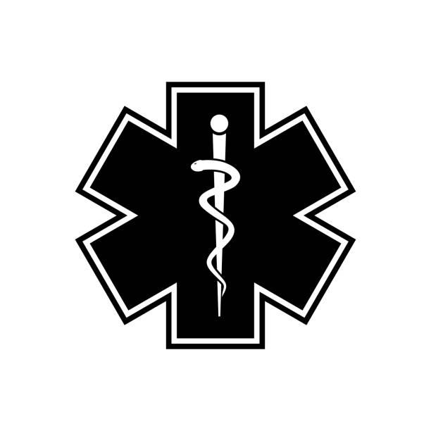 ilustraciones, imágenes clip art, dibujos animados e iconos de stock de icono de vector de atención médica - técnico en urgencias médicas