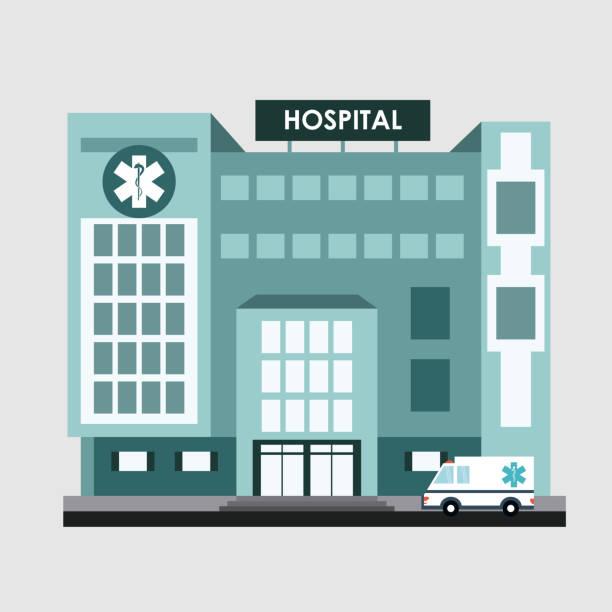 bildbanksillustrationer, clip art samt tecknat material och ikoner med medical center illustration, vektor illustration - hospital